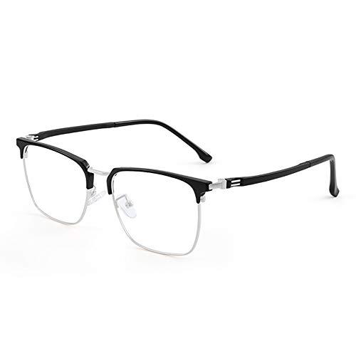 HQMGLASSES Gafas de Lectura de computadora de Titanio Anti-A