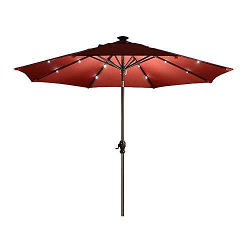 Paraguas de Patio al Aire Libre Paraguas Solar Iluminado Paraguas de Sol Paraguas de Columna Central Paracaídas Paraguas Grande