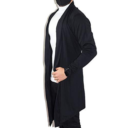 Blusa De Frio Cardigan Masculino Sobretudo Masculino Swag (Preto, G)