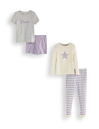 Amazon-Marke: RED WAGON Mädchen Pyjama-Set aus Baumwolle, 2er-Pack, Mehrfarbig (Heart), 104, Label:4 Years