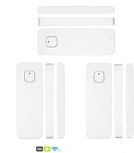 El Detector de Sensor de imán de Puerta de Ventana Inteligente Funciona con Alexa Google Home para el Sistema de Alarma de Seguridad antirrobo(con batería) (3 Pack)