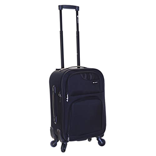 Slimbridge Lightweight Cabin Hand Luggage Bag Suitcase 55 cm 2.3 kg 35 litres 4 Wheels, Andalucia Black