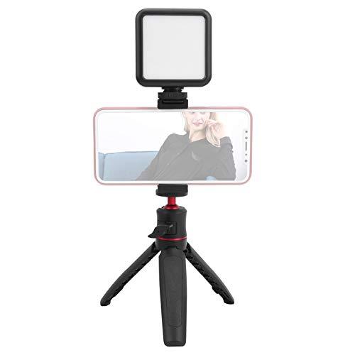 Luz de relleno para fotografía, luz de relleno para teléfono celular de 800 LM con clip de soporte para trípode, vida útil de la lámpara de 50000 horas, para teléfono móvil Vlog Selfie Video corto en