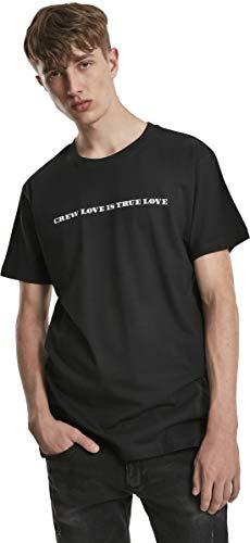 Mister Tee Herren Crew is True Love T-Shirt, Black, M