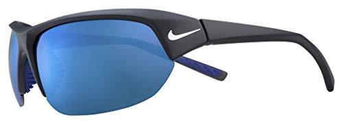 Nike EV1125-014 Skylon Ace - Gafas de sol con montura de color negro/gris, color gris con azul cielo espejo lente tintado