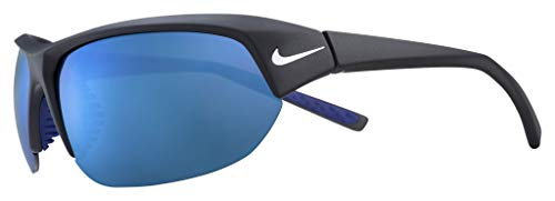Nike EV1125-014 Skylon Ace Sunglasses Matte Black/Grey Frame Color, Grey with Blue Sky Mirror Lens Tint