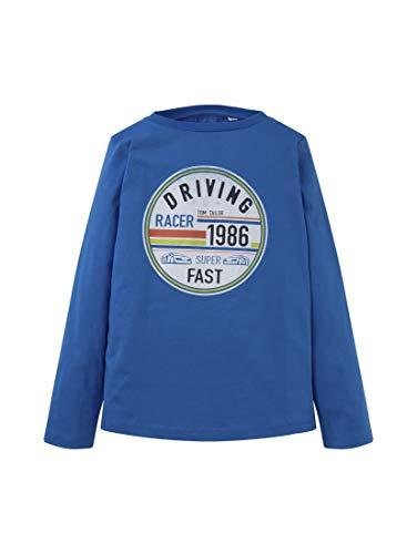 TOM TAILOR Baby-Jungen Langarmshirt T-Shirt, Strong Blue|Blue, 104/110