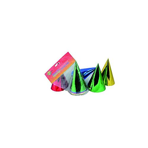 10 Spitzhüte / Geburtstag Partyhut / 5 verschiedene metallic Farben