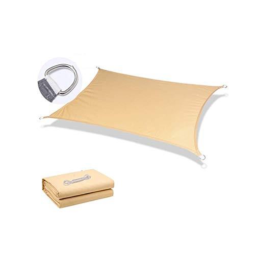 PLEASUR Zonnezeil voor Tuin Balkon Luifel Rechthoek Zonnezeil, Anti-Sunscreen Luifel luifel, In Tear-Resistant Polyester, Waterbestendig Voor Outdoor Yard Party, 160g/m2 8