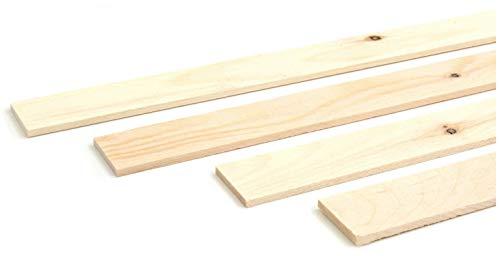 wodewa Holzleiste Wandleiste Zirbe Natur 1m Abschlussleiste Holz 30x4mm Zierleiste für Wandverkleidung Decke Boden Abdeckleiste DIY Basteln