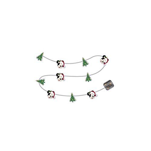 ARDITEX WD13434 Guirnalda de Luces de Navidad con 10 Leds cálidos - 165cm. de Disney-Mickey