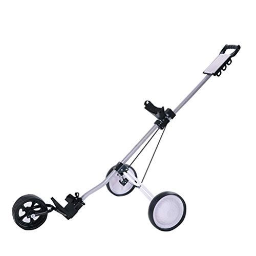 Golf Trolley Faltbare 3-Rad, Leicht Golf-Buggy, Schnell Öffnen und Schließen, Mit Scorekartenhalter, Aluminiumlegierung Tragbaren Golf-Trolley