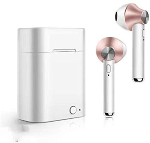 Kabellose Bluetooth-Kopfhörer, unsichtbar, Mini-Kopfhörer, kabellos, Sport-Headsets mit Kopfhörer-Ladehülle rose