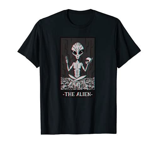 The Alien - Grunge Aesthetic Clothes Antisocial Ufo Glitch T-Shirt
