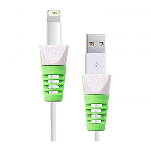 TUDIA Klip スナップオン ケーブルプロテクターを iPod / iPhone / iPad / Apple Watch充電ケーブル用 (緑 )