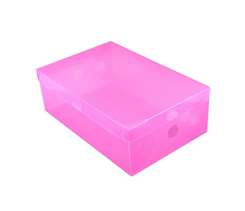 Gespout Plastique Boîtes de Rangement Tiroir Style Plus épais Boîtes de Rangement pour Chaussures débris Plastique Rose 28 * 18 * 10cm(L*W*H)