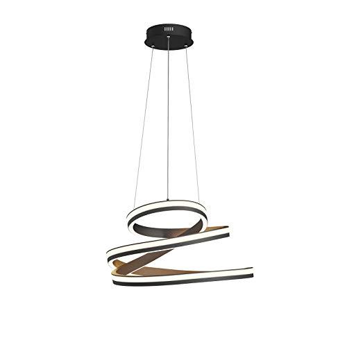 LED Lámpara colgante 'Emlyn' (Moderno) en Negro hecho de Aluminio e.o. para Salón & Comedor (A+) de Lucande   lámpara colgante LED, lámpara colgante LED, lámpara LED, lámpara de techo, lámpara de