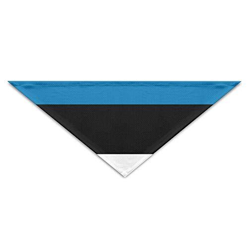 Gxdchfj Estonia Flag Stripes Flag Triangle Pet Scarf Dog Bandana Pet Collars for Dog Cat - Birthday