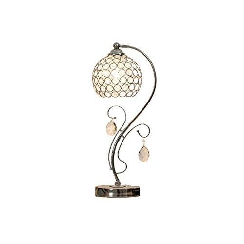 OPIU Lámpara de Mesa de Cristal táctil con USB Puertos de Carga, lámparas de Noche de Cristal para dormitorios (Color : Silver)
