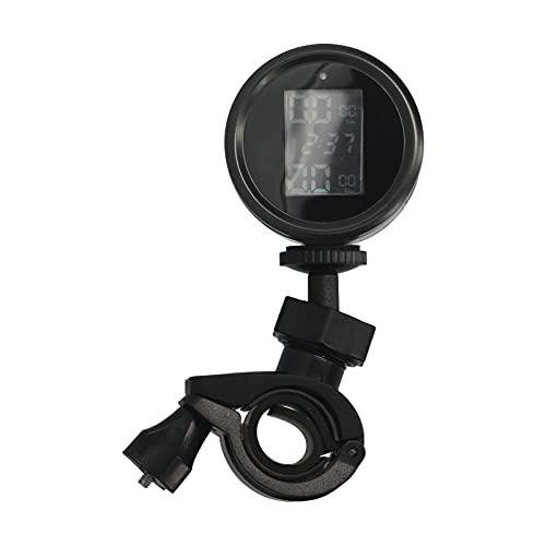 Goolsky Sistema de monitoreo de presión de neumáticos de Motocicleta Sensor Externo Solar TPMS inalámbrico Pantalla LCD Lectura de presión de neumáticos de Moto
