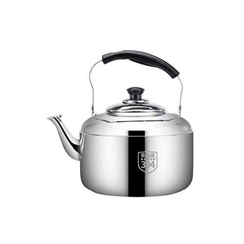 XIAONINGMENG Wasserkocher, 304 Edelstahl-Wasserkocher, Home Kitchen Essential, Sound Safe and Reliable, 3/4/5/6/8 / 10L Silber Composite Zweischichtiger Boden (Capacity : 3l, Color : Silver)