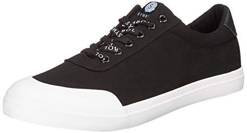 Amazon Brand - Symbol Men's Black Sneakers-8 UK/India (42 EU) (AZ-YS-390C)