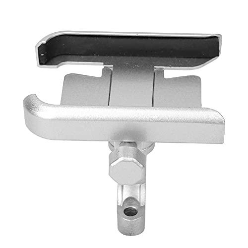 Tenpac Soporte para teléfono, práctico Soporte para teléfono para Bicicleta, cojín de Silicona Engrosada, aleación de Aluminio, Resistente al Desgaste para teléfonos móviles de 4-7 Pulgadas,(Silver)