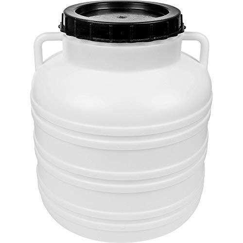 Browin 360130 - Barril de cuello ancho (30 L, con tapa, 30 L), color blanco