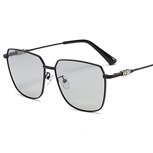 Gafas de sol de metal polarizadas Gafas de sol de hombre que cambian de color gafas de sol anti-UV conducción gafas