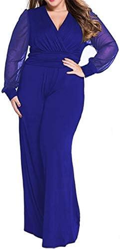 Royal blue pant suit plus size _image0