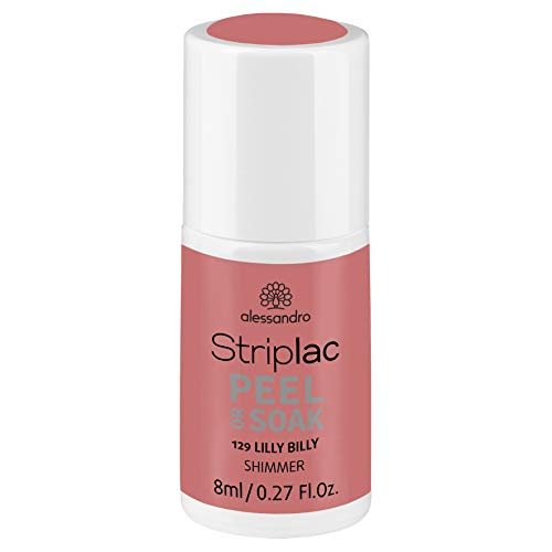 alessandro Striplac Peel or Soak Lilly Billy – LED-Nagellack in frischem Apricot – Für perfekte Nägel in 15 Minuten – 1 x 8ml