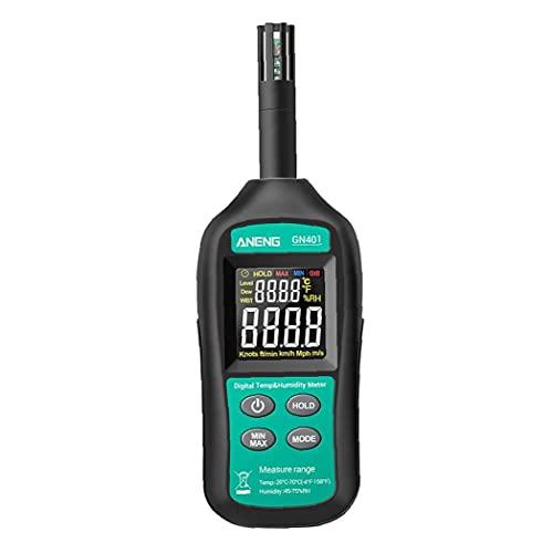 Sraeriot Aneng Mini Hygrómetro Termómetro Gn401 Temperatura Digital De Alta Precisión Humedad Medidor De Gas, Detectores De Temperatura, Higrómetros