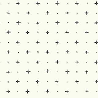 York Wallcoverings MK1100 Magnolia Home 56 Square Foot - Cross Stitch by Joanna Gaines - Pre-Pasted Paper Wallpaper