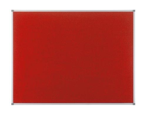 Nobo Eclipse 1902259 Pinnwand Filz (Aluminiumrahmen, 900 x 600 mm) rot