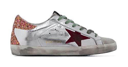 VCEGGDB Zapatillas de deporte antideslizantes para mujer Super Star Casual Walking Shoes, color Naranja, talla 33 EU