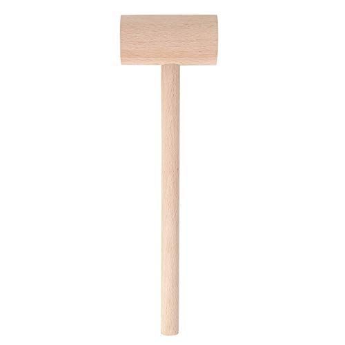 "MOTZU Wooden Hammer for Chocolate, 5"" Mini Wooden Hammer Mallet Pounding Toy Wooden Mallets Solid Natural Hardwood Hammer for Cracking Piñata Cake"