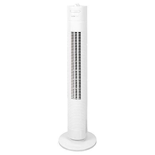 Clatronic Tower-Ventilator TVL 3770, 75° oszillierend, 3 Geschwindigkeitsstufen, 120 Minuten-Timer,