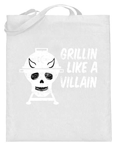 Grillin Like A Villain - doodskop met hoorns - barbecue grill - jute zak (met lange handvatten)