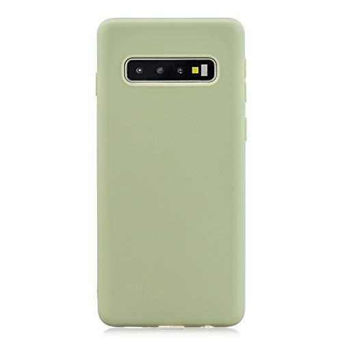 HopMore 3-pak voor Samsung Galaxy S10 hoes van zachte silicone met tekeningen, kleur, Samsung Galaxy S10, Groen