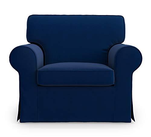 TLY Ektorp IKEA Sessel, Baumwollbezug, für IKEA Ektorp Stuhl-Schonbezug blau