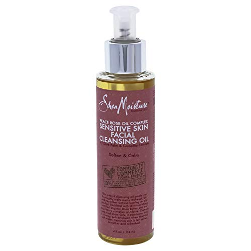 Shea Moisture Sheamoisture Peace Rose Oil Complex Sensitive Skin Facial Cleansing Oil - 4 Oz