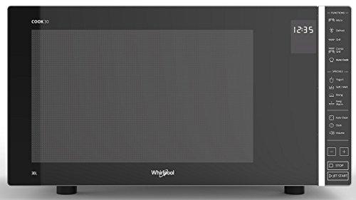 Whirlpool MWP 303 SB Kombination Grill und Mikrowelle / 900 W/ 30 L Garraum / Quartz Grill 1050 W / AutoClean / Joghurt-Funktion / Schmelzfunktion / Warmhalte-Funktion