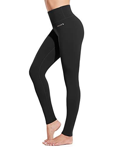 BALEAF Women s 28  Naked Feeling Yoga Leggings High Waisted Tummy Control Athletic Pants Butter Soft Workout Leggings Black Size XL
