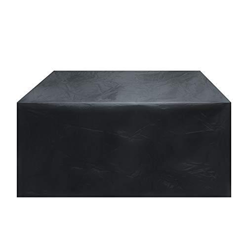 GFSD Muebles Jardin Funda Tejido Oxford 210D Resistente Impermeable Respirable A Prueba de Viento Anti-UV For Patio Mesa Y Sillas Al Aire Libre (Color : Negro, Size : 242×162×100cm)