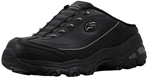 Skechers Sport Women's D'Lites Black/Black Slip-On Mule Sneaker 7.5 M US