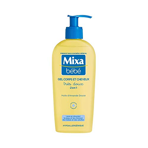 Mixa Bébé Gel très doux corps et cheveux 2en1 à l'huile d'amande douce - Le flacon de 250 ml