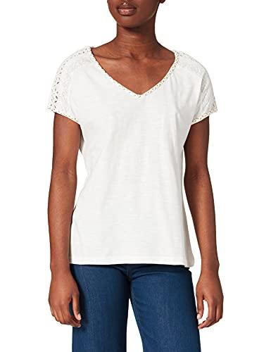 Springfield Camisa Lisa Lace Hombro, Marfil, M para Mujer