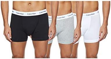 Calvin Klein 0000U2662G - Bóxer para hombre, color negro/blanco/gris, talla Medium