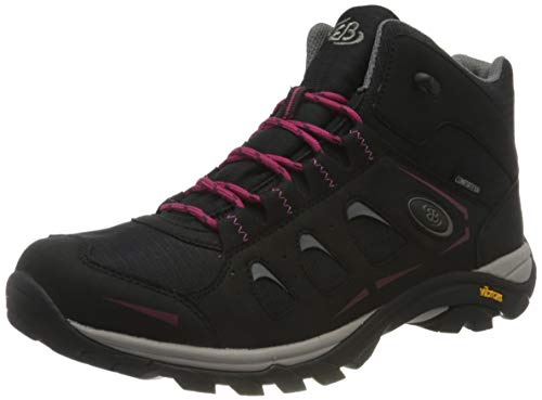 Brütting MOUNT FRAKES HIGH Damen Trekking- & Wanderstiefel, Schwarz/ Pink, 37 EU