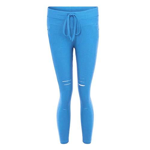 Hhckhxww Pantalones De LáPiz Pantalones Rasgados Leggings De Mujer